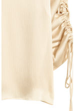 Blouse with drawstrings - Light beige - Ladies | H&M 3
